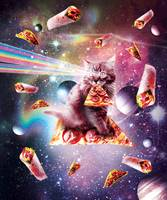 Outer Space Pizza Cat - Rainbow Laser, Taco, Burri