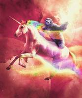 Epic Space Sloth Riding On Unicorn