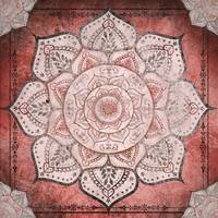 Red Toned Faded Mandala