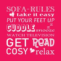Sofa Rules Pink