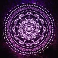 Purple Glowing Soul Mandala