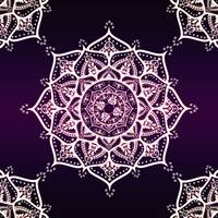 Violet Glowing Spirit Mandala
