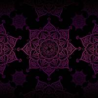 Violet Mandalas On Black