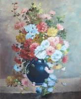 Floral Paintings Chrysanthemums Cauchois Contempor