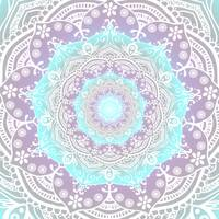 Bohemian Heaven Mandala Purple Blue White