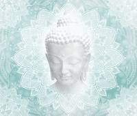 Tibetan Dream Blue White Buddha Mandala
