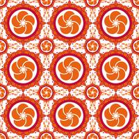 Orange Red White Modern Floral Design