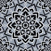 Immortal Spirit  Dusty Blue Black & White Mandala