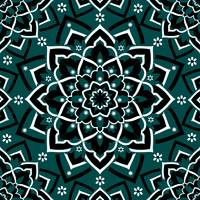 Immortal Spirit   Dark Teal Black & White Mandala