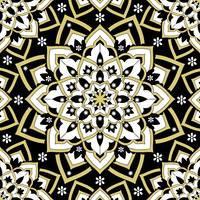 Immortal Spirit   Mandala Black Gold White