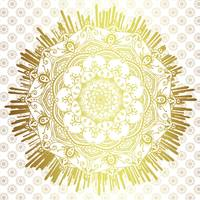 Passage To Shamballa  White & Gold Mandala