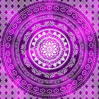 Purple Destiny Purple & White Flower Of Life Boho