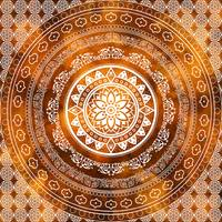 Golden Destiny Gold Orange & White Flower Of Life