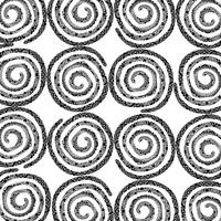 Black & White Patterned Spirals