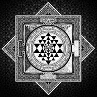 Sri Yantra Black & White Sacred Geometry Mandala