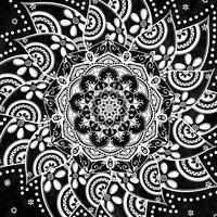 Spirit Within Black & White Patterned Mandala