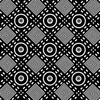 Black & White Circles Squares Diamonds