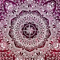Voyaging Spirit Purple Red Mandala