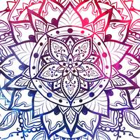 Inner Peace Red Purple Blue Mandala