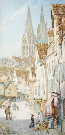 Thomas Matthews Rooke (1842-1942)  Chartres from t