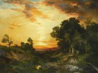 Thomas Moran 1837 - 1926 SUNSET, AMAGANSETT