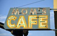 Mom Cafe Neon Sign