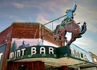 Mint Bar Cowboy Neon Sign