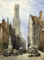 William Callow - The Belfry and Old Cloth Hall, Br