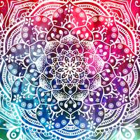 Namaste Red Purple Blue Mandala