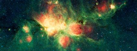 Close Up Cat's Paw Nebula NGC 6334