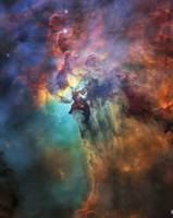 Close Up Lagoon Nebula, Messier 8, NGC 6523