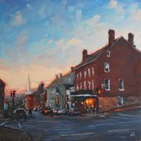 EveningLights_12x12oil_AmyHRDonahue_HiRes