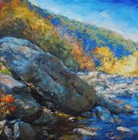 RiverBouldersontheMaury_18x18oil_AmyHRDonahue_HiRe