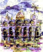 Venice Piazza t Marco Purple Dream