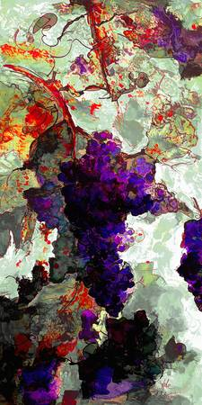 Grapes of Spledor Abstract 2
