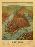 Aerial View of New York by Root & Tinker (1879)