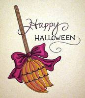 Happy Halloween Broomstick