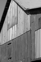 Barn Abstract Black and White