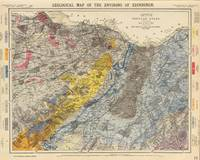Vintage Geological Map of Edinburgh Scotland (1883