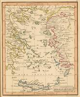 Vintage Map of The Aegean Sea (1835)