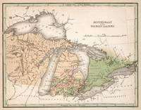 Vintage Map of The Great Lakes (1837)