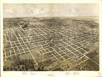 Vintage Pictorial Map of Bloomington IL (1867)