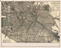 Vintage Map of Berlin Germany (1901)