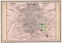 Vintage Map of Athens Greece (1901)