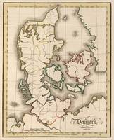 Vintage Map of Denmark (1815)