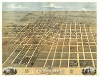 Vintage Pictorial Map of Champaign IL (1869)