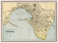 Vintage Map of Genoa Italy (1901)
