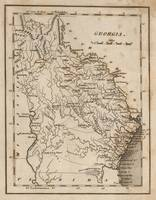 Vintage Map of Georgia (1816)
