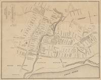 Vintage Map of Hartford CT  in 1640 (1890)