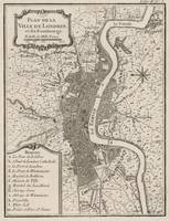 Vintage Map of London England (1764)